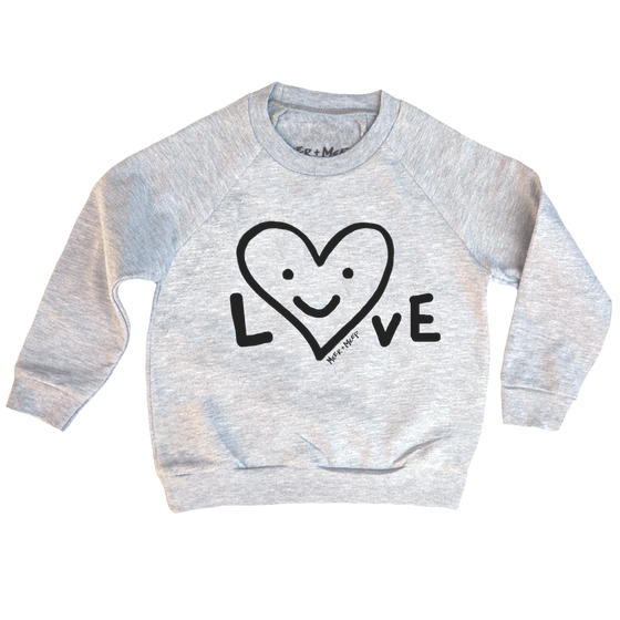 Image of LOVE HAPPY HEART SWEATSHIRT