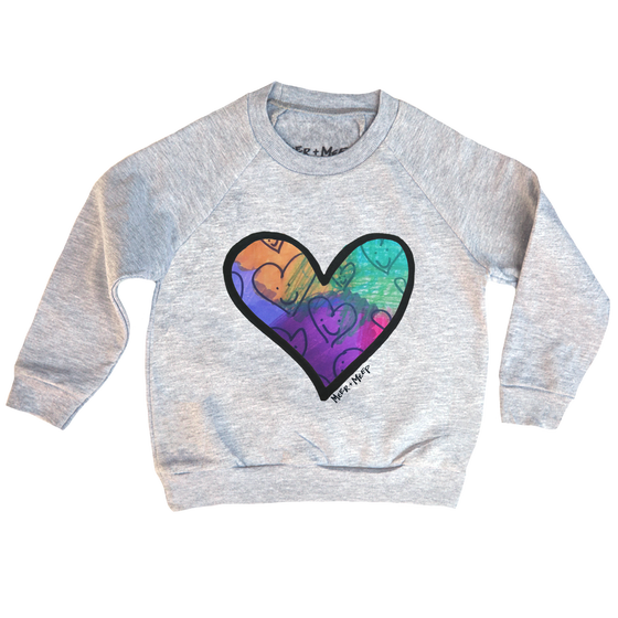 Image of COLORFUL HAPPY HEARTS SWEATSHIRT