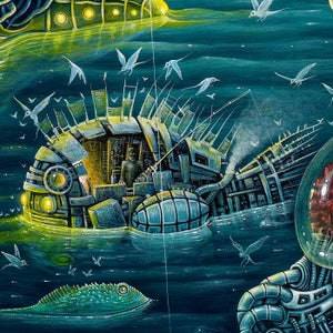 """Image of THE NIGHT TRAWLERS (V-2) ~ 30 x 22"""" Extra Large Limited Edition of 50"""