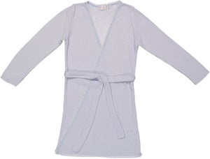 Image of GIRLS HEARTS ROBE Grey Heather, Lt Blue, Lt Pink