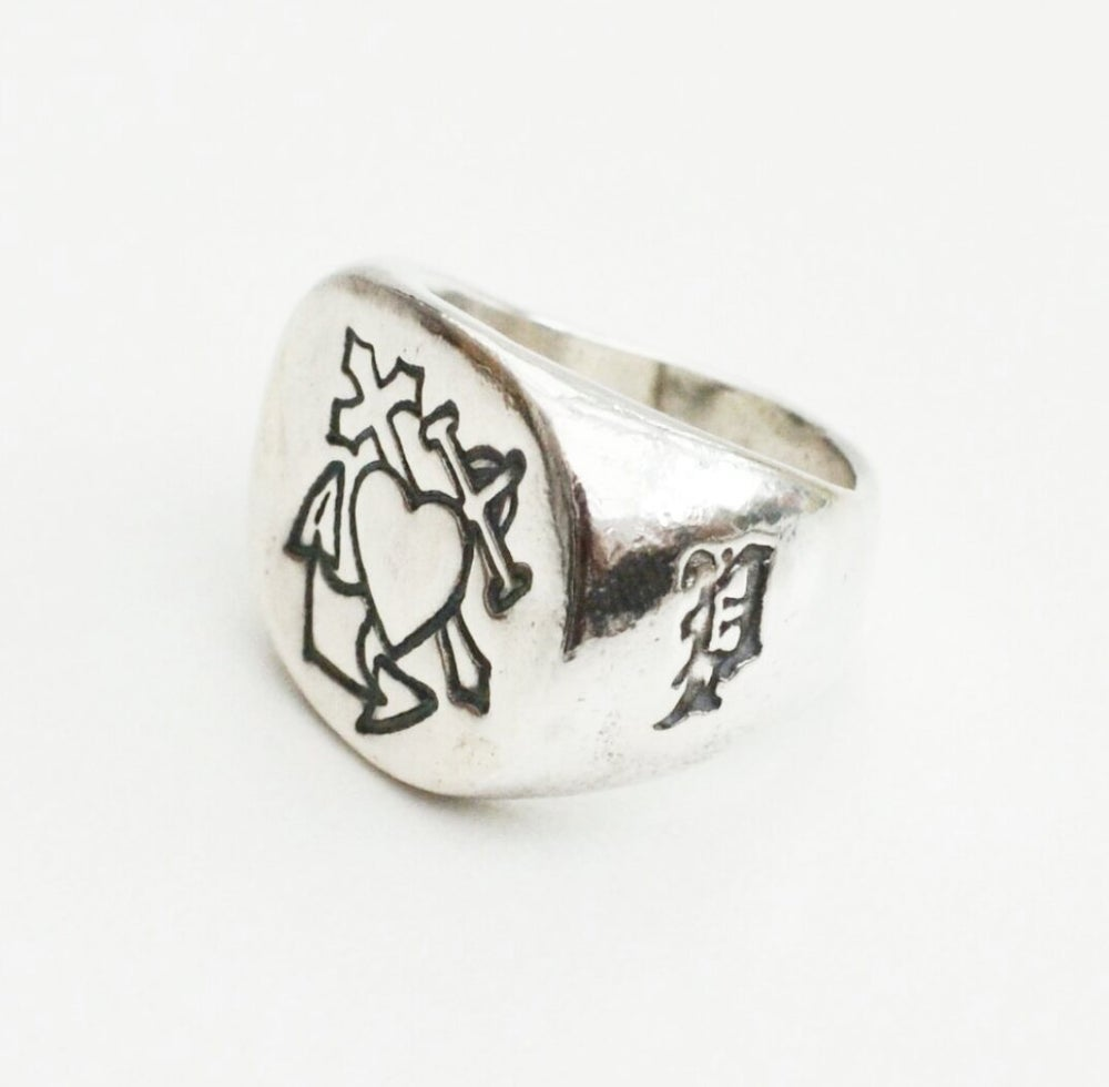 Image of The Brad Solid Silver Signet Ring