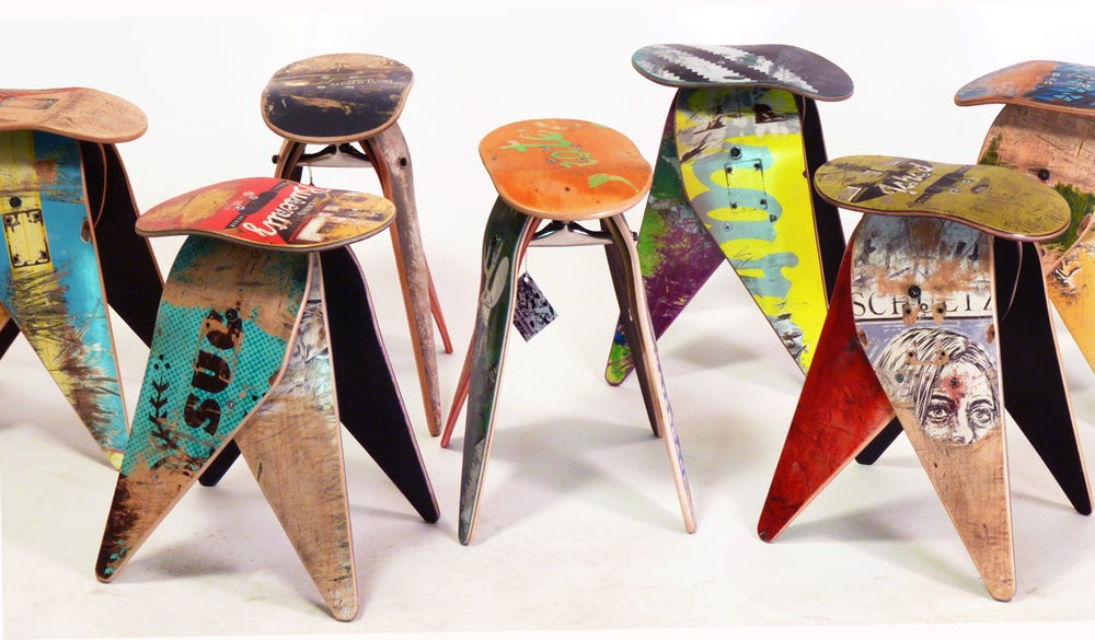 "Image of The Original Deckstool - 18"" Recycled Skateboard Stool - Free Shipping"