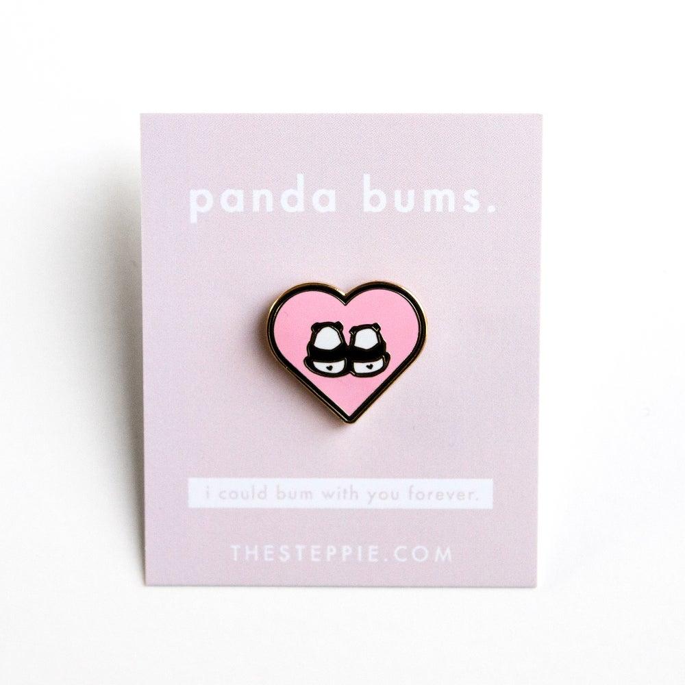 """Image of """"Panda Bums"""" Hard Enamel Pin"""