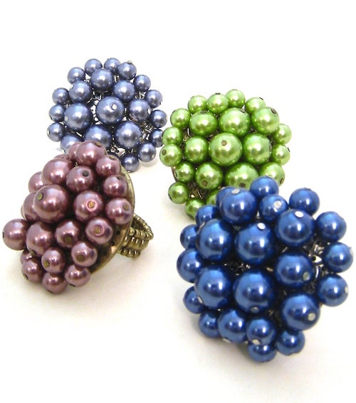 Image of Pearl Cluster Ring (More Colors)