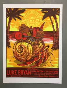 Image of Luke Bryan - Riviera Maya, Mexico - Crash My Playa - 2017 - Artist Edition