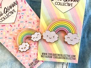 Image of Jumbo Happy Rainbow Pin