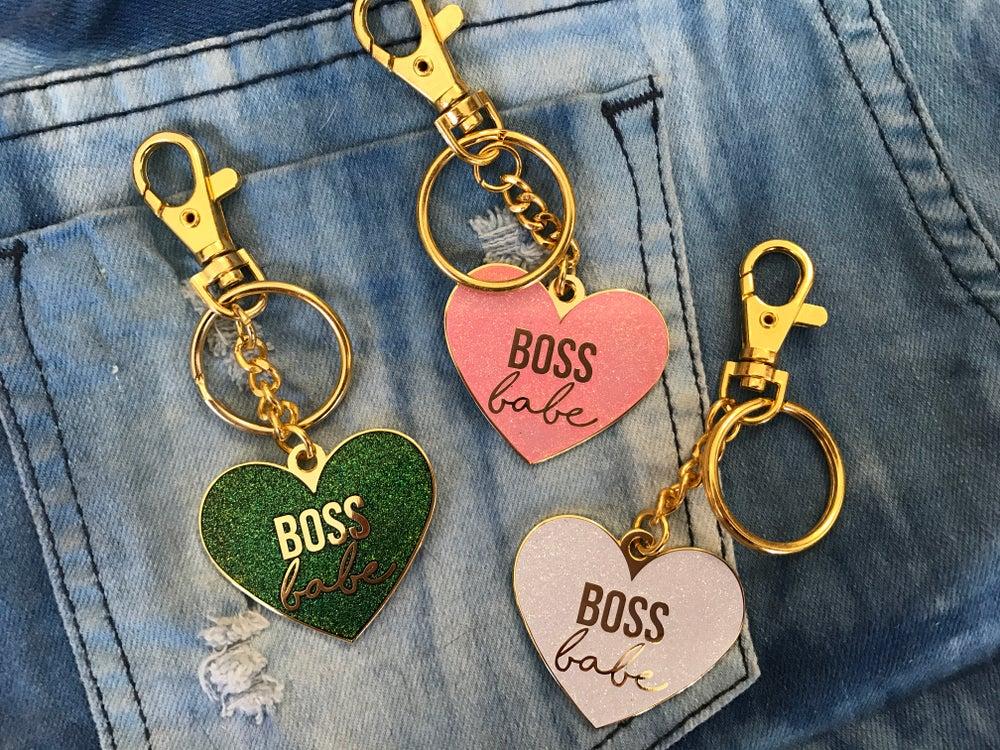 Image of Boss Babe Heart Bag Charm