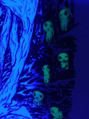 Image of forest spirit glow in the dark print