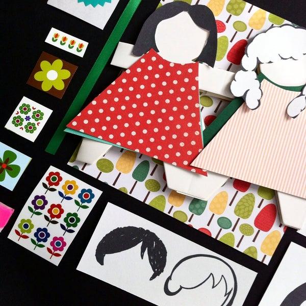 Image of Retro paper dress up dolls