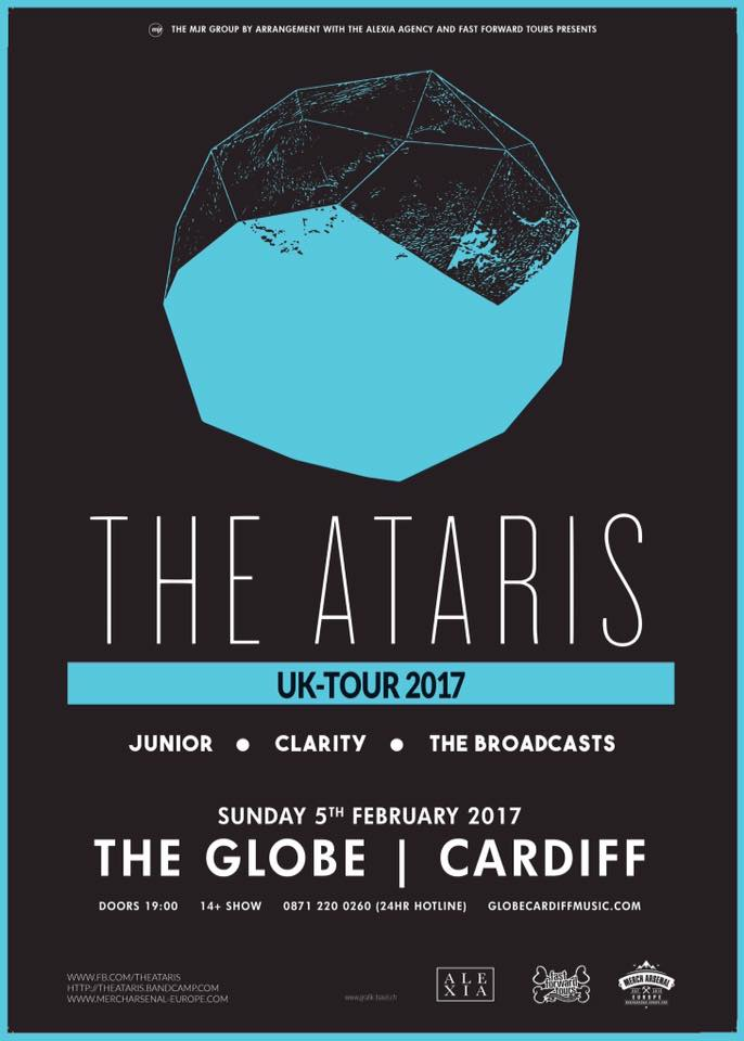Image of *Ticket* The Globe, Cardiff - The Broadcasts support The Ataris (Feb 5th)