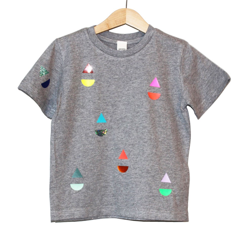 Image of T-shirt little boat grey