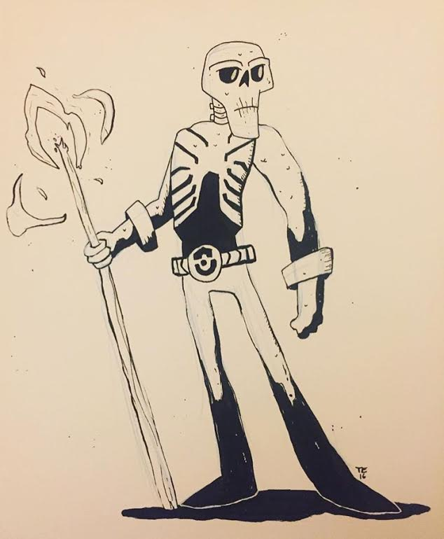 Image of Inktober Original Ink Drawing - Carruthers McKeeg