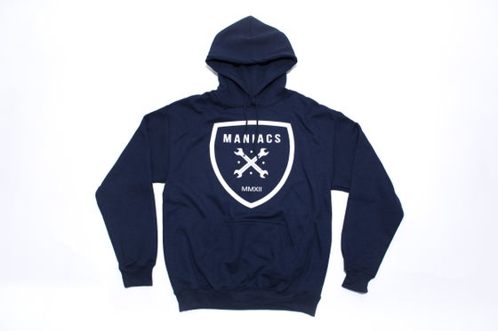 Image of Maniacs Logo Navy Hoodie