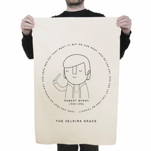 Image of Robert Burns: Selkirk Grace Tea Towel