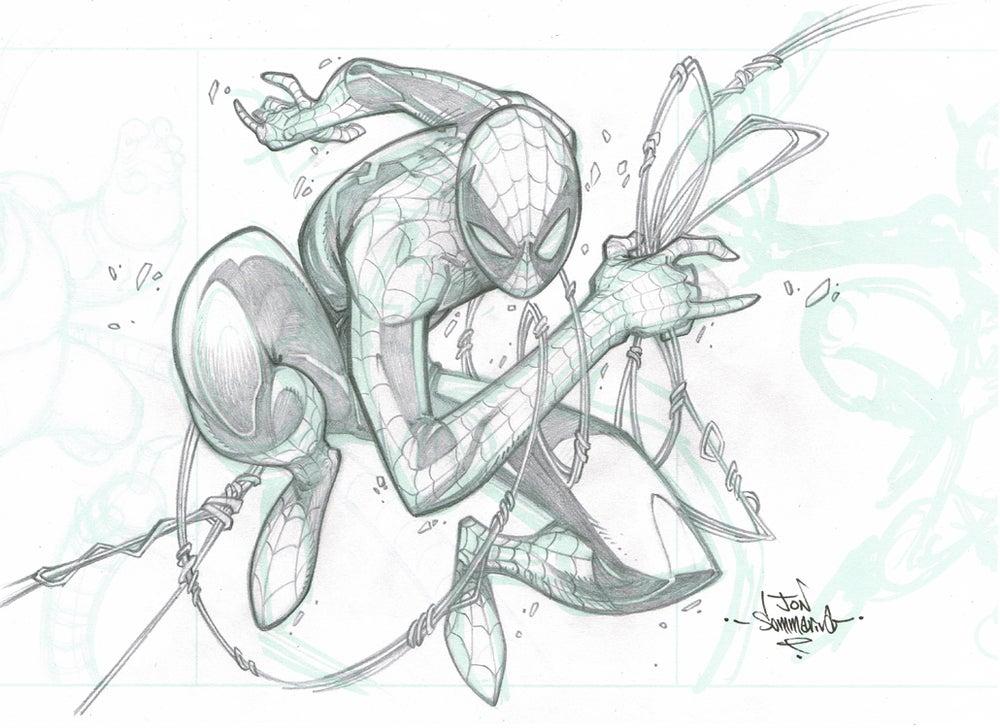 Image of ORIGINAL ART Spider-man pencil sketch