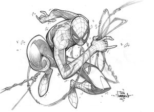 Image of ORIGINAL ART Spider-man pencil sketch
