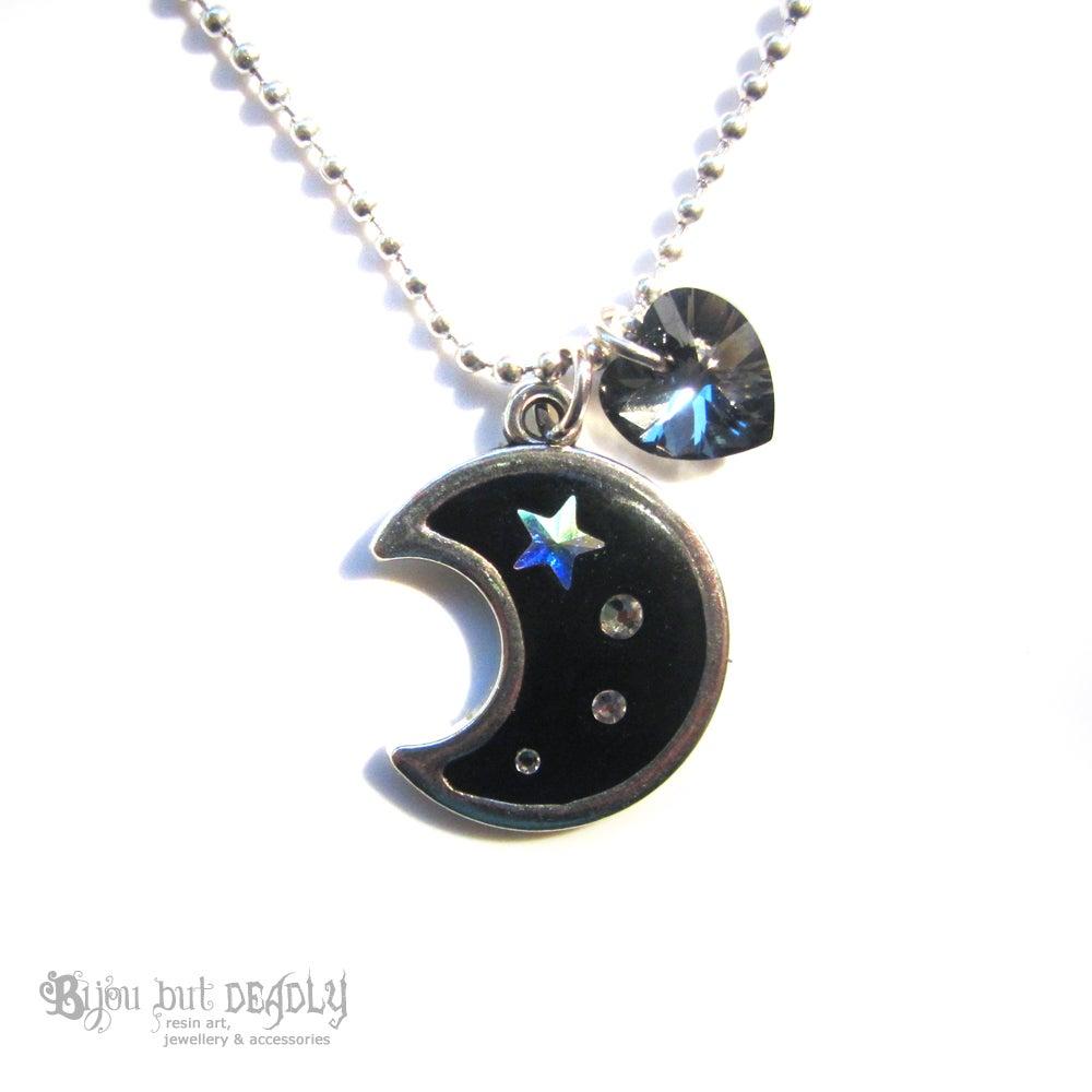 Image of Moon and Shooting Stars Pendant