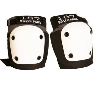 Image of FLY KNEE PAD GREY BLACK WITH WHITE CAPS