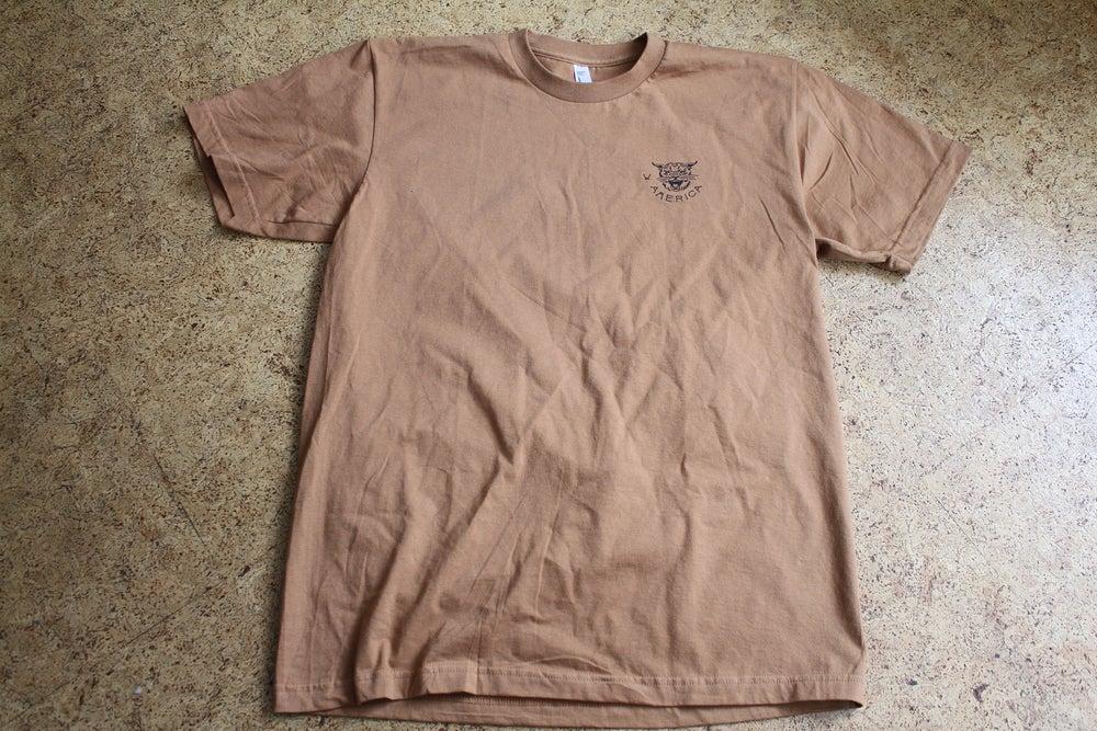 Image of W/A camel bobcat T-shirt