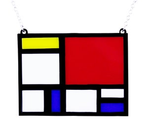 Mondrian Necklace - Black Heart Creatives