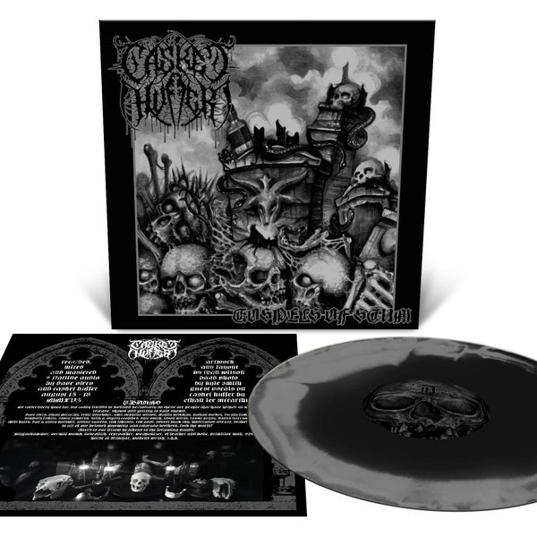 Image of Casket Huffer - Gospels of Scum LP *Black and Silver Merge LTD to 100*