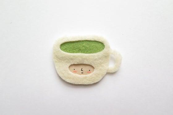 Image of Matcha mug brooch