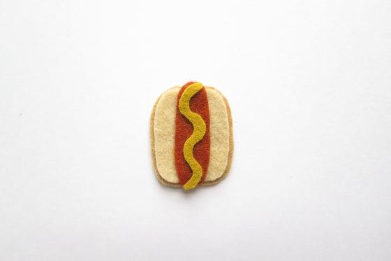 Image of Hot dog brooch