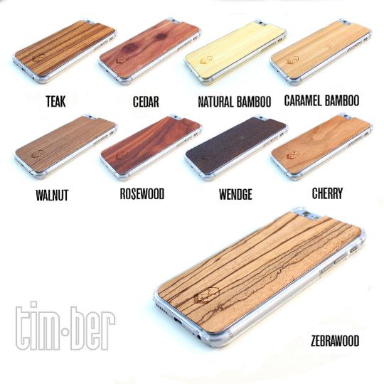 Image of TIMBER Wood Skin Case (iPhone, Samsung Galaxy) : Halfsumo Shibo