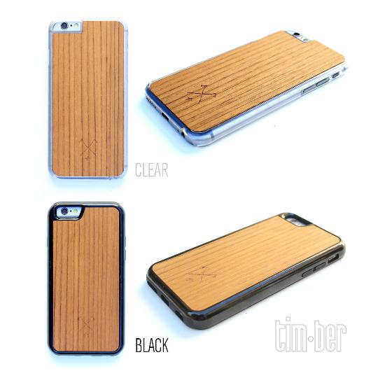 Image of TIMBER Wood Skin Case (iPhone, Samsung Galaxy) : Halfsumo Senpai