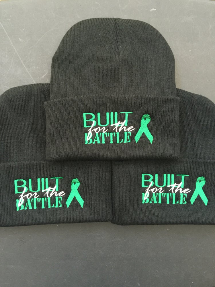 """Image of """"BUILT for the BATTLE"""" Cancer Ribbon Or Ribbon Colors For Any Cause"""