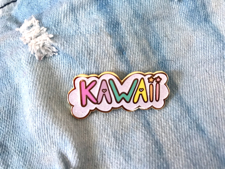 Image of Kawaii Cloud Bubble Enamel Pin