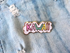 Image of Kawaii Cloud Bubble Enamel Pin