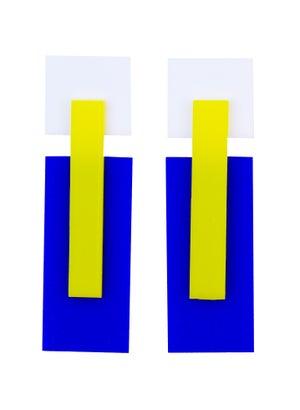 Mondrian Earrings  - Black Heart Creatives