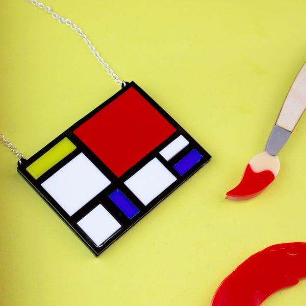 Mondrian Necklace - Black Heart Creatives