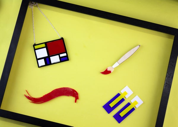 Mondrian Earrings  - Black Heart Creatives
