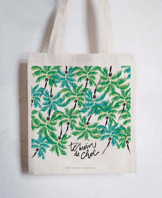 Image of NOUVELLE COLLECTION • Tote bag TÉMOIN DE CHOC