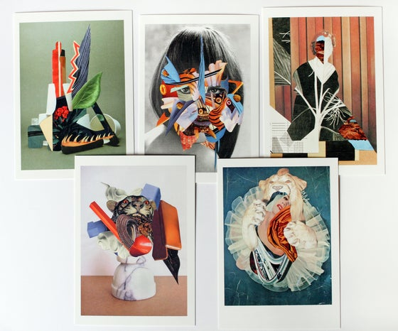 Image of Cartes postales (lot de 5) - Collage Postcards