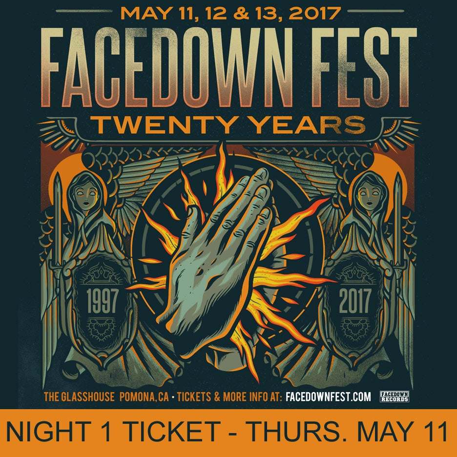 Image of Night 1 - Facedown Fest Ticket - Thurs. May 11, 2017 (price includes $3 ticket fee)