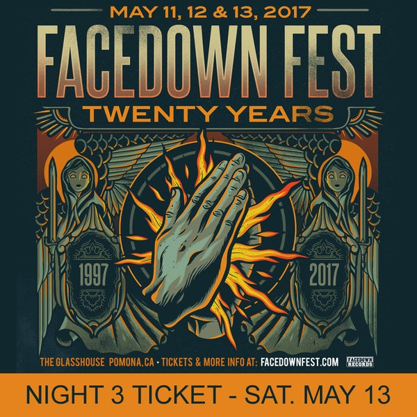 Image of Night 3 - Facedown Fest Ticket - Sat. May 13, 2017 (price includes $3 ticket fee)