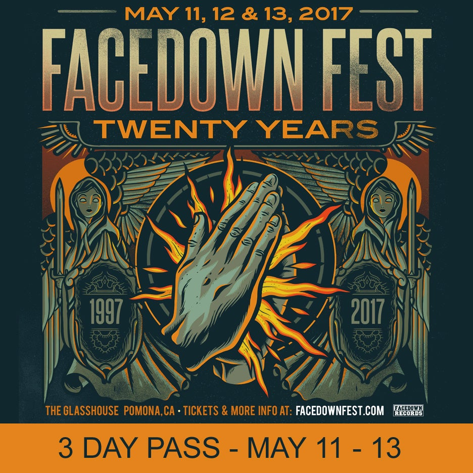 Image of 3 Night Pass - Facedown Fest / May 11 - 13, 2017 (price includes $4 ticket fee)