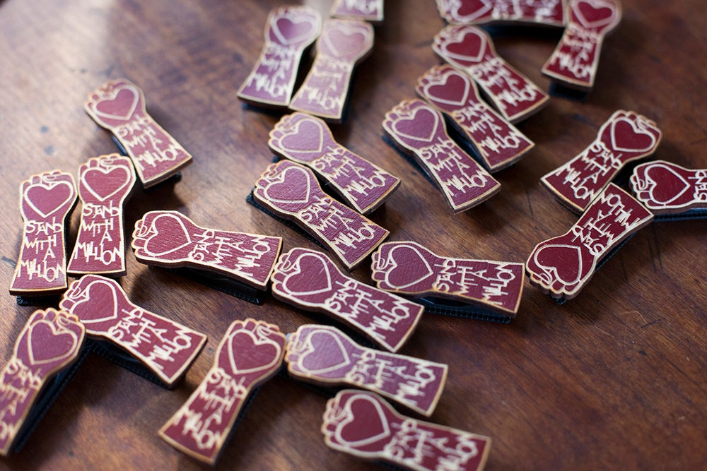 "Image of ""Stand With a Million"" Pins"