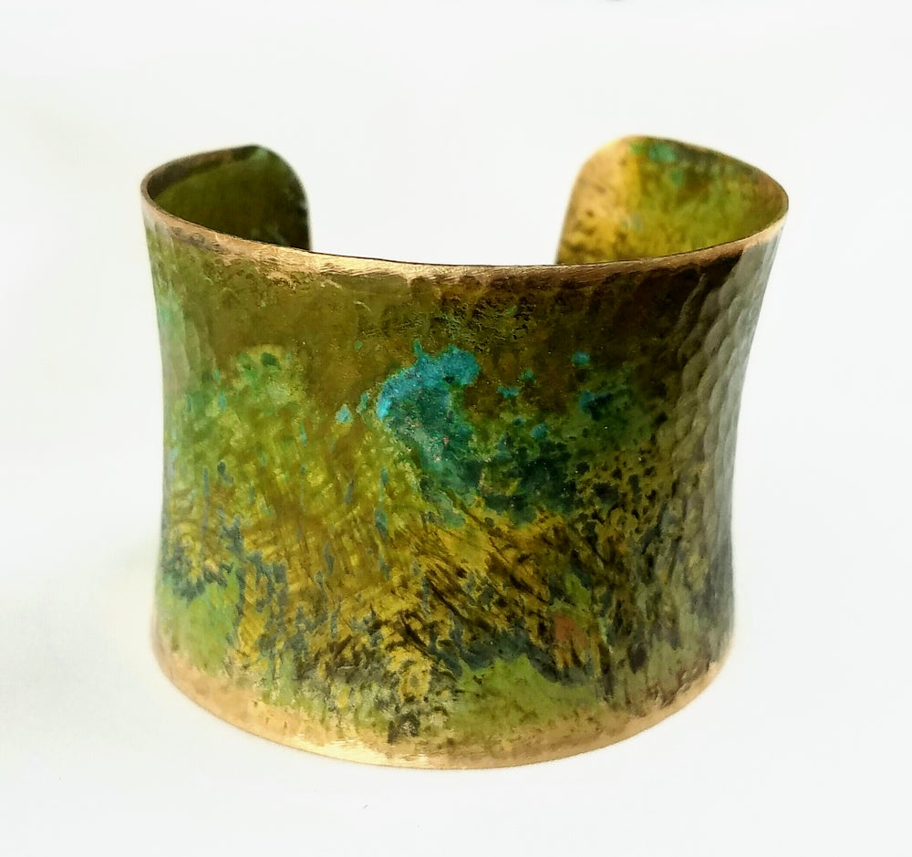 Image of Patina Green Big Hammered Cuff