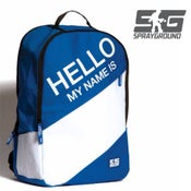 """Image of """"HELLO MY NAME IS"""" BACKPACK SPRAYGROUND"""