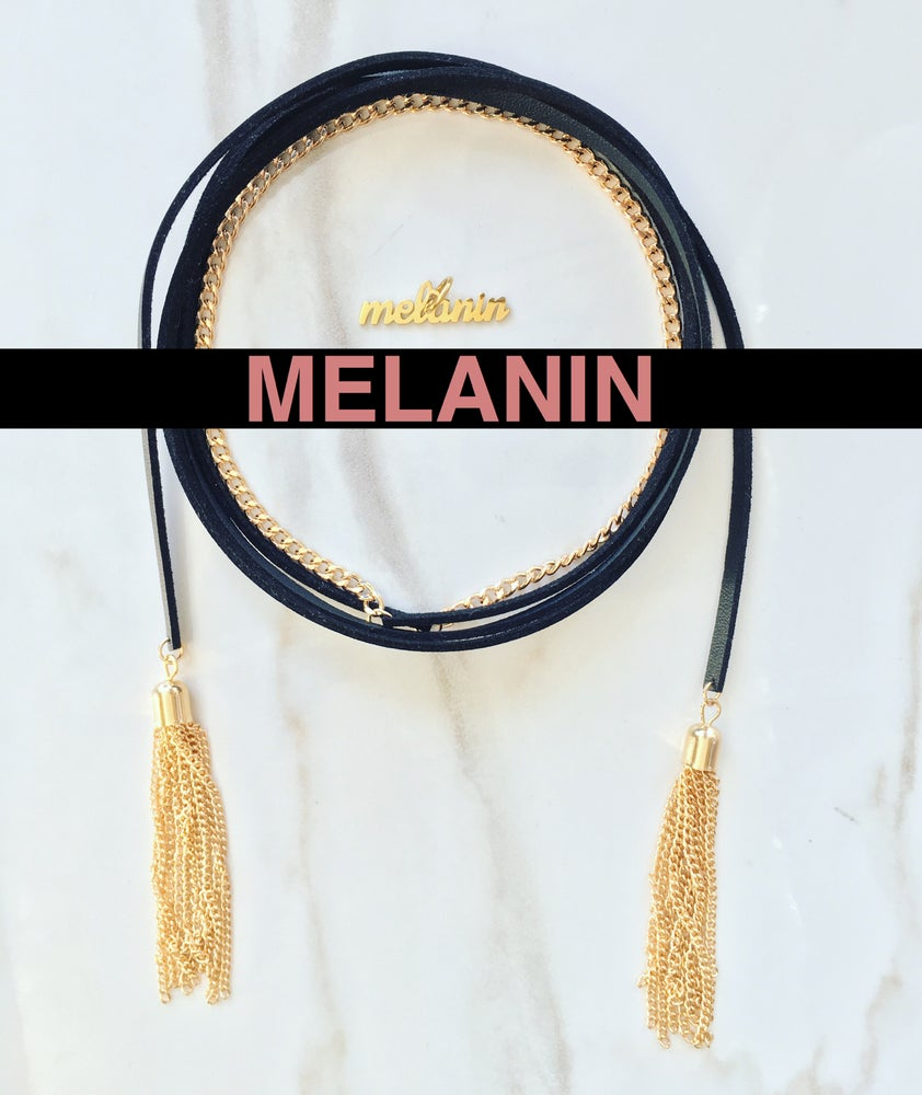 Image of Leather Rope w/ Melanin Charm