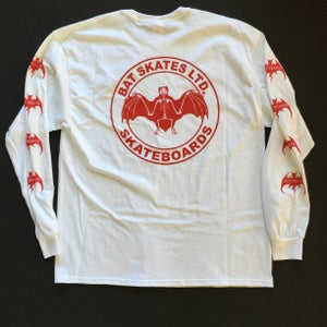 Image of SKETCHY SEAL LONG SLEEVE / Red & White