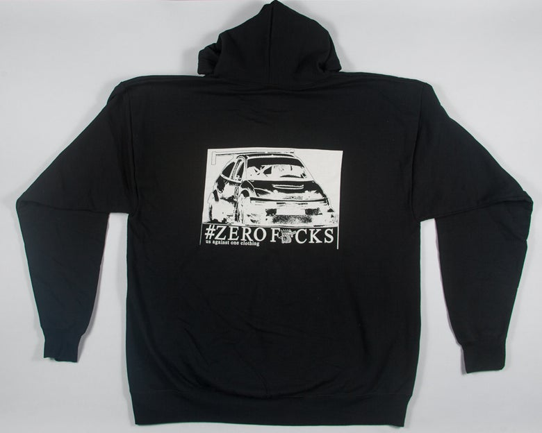 Image of Us Against One Clothing Zerofucks Racing Zip Up Hoodie