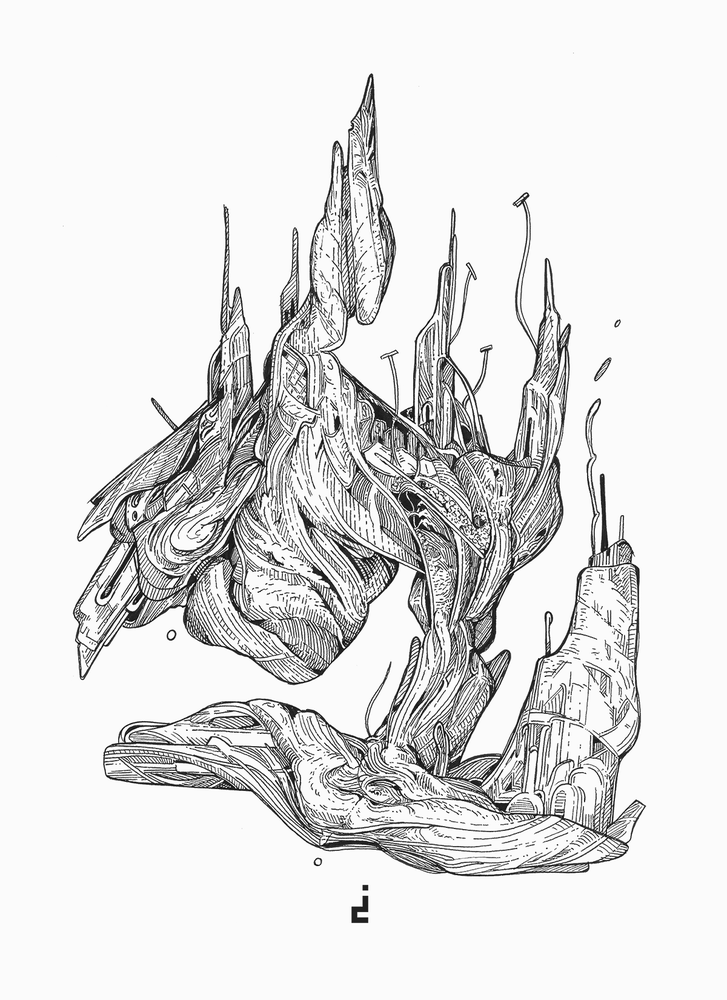 Image of Ink Drawing | retrofit