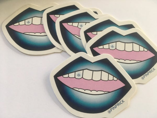 Image of PUCKER UP PINPRICK LIP STICKERS