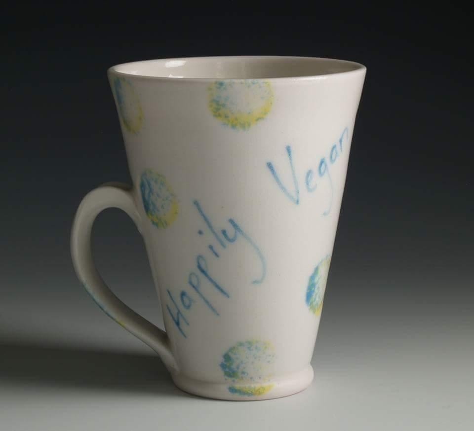 Image of Happily Vegan Porcelain Mug