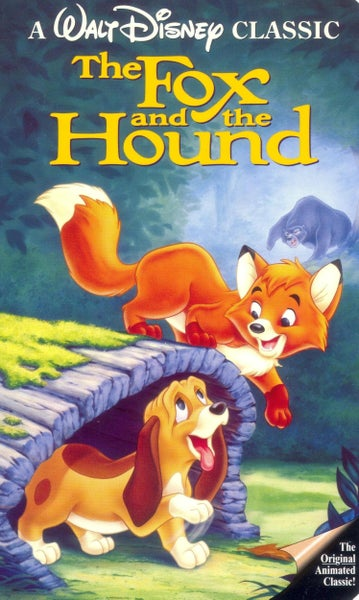 Image of Fox and the Hound mini-poster of VHS cover Autographed by Keith Coogan/Keith Mitchell